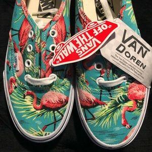 NWOB Vans Authentic Van Doren Flamingo Sneakers